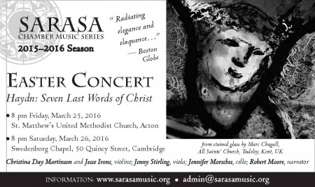 Easter Concert: Haydn's Seven Last Words of Christ (Acton)