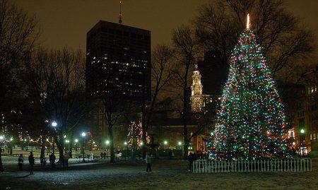 Boston Common Tree Lighting 2016