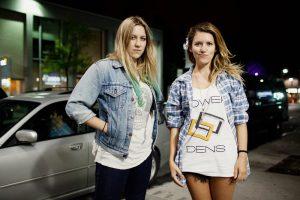 Japandroids at Divan Orange:  L-R: Laura Lloyd and Jasamine White-Gluz of band No Joy