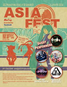 Asia Fest Boston on May 20th Sat