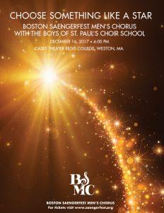Boston Saengerfest Men's Chorus Christmas Concert 2017 Choose Something Like A Star