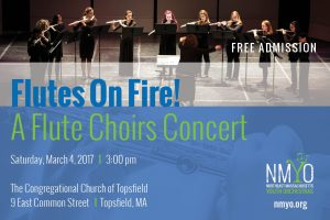 Flutes on Fire! A Flute Choirs Concert - Northeast Massachusetts Youth Orchestras (NMYO)