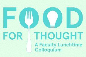 Food For Thought: Deirdre Loughridge & Dietmar Offenhuber