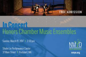 Honors Chamber Music Concert - Northeast Massachusetts Youth Orchestras