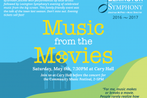 Lexington Symphony Presents: Community Music Festival & Music from the Movies