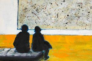 People Looking Art Paintings: New Works by San Lyman