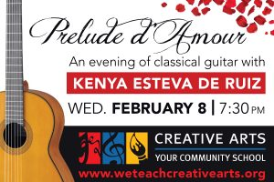 Prelude D'Amour, An evening of classical guitar with Kenya Esteva de Ruiz