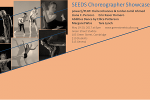 SEEDS Choreographic Showcase Presented by Green Street Studios