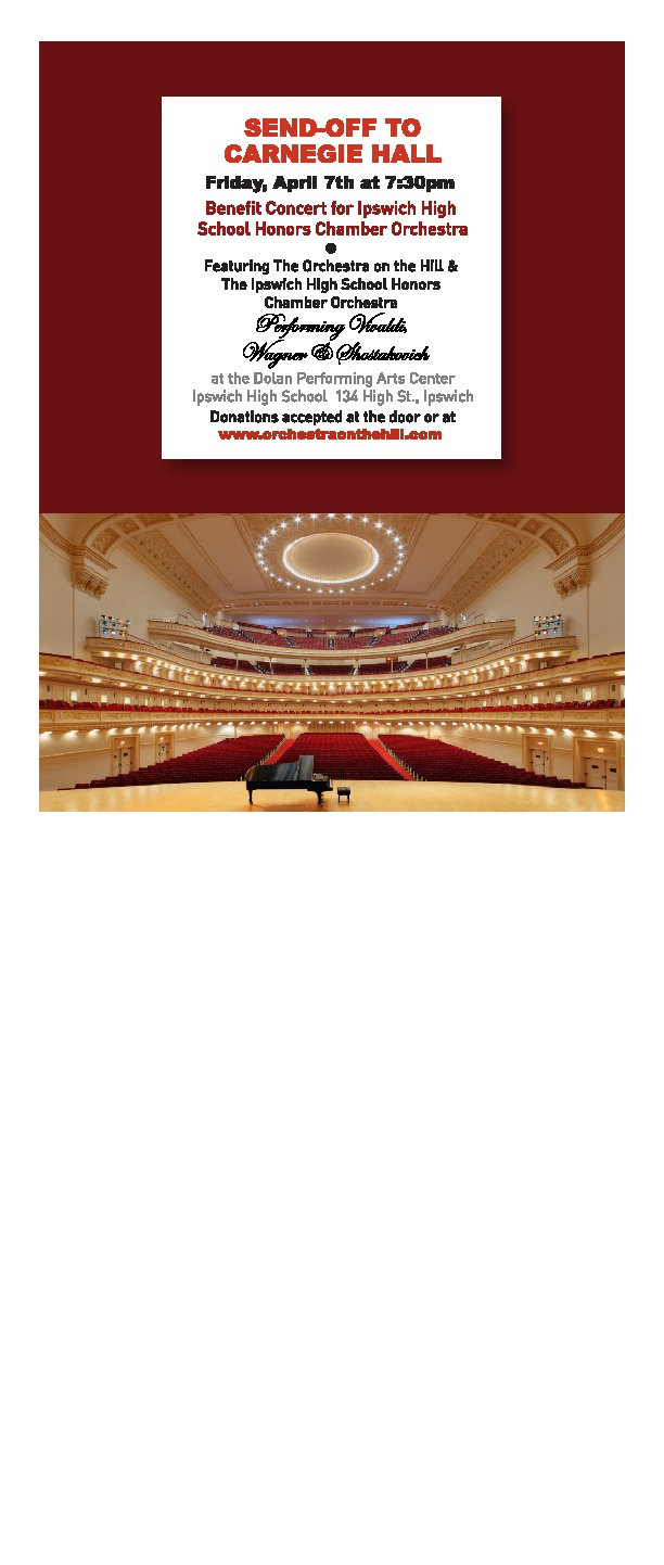 Carnegie Hall Calendar.Send Off To Carnegie Hall Presented By Ipswich Music Art And Drama