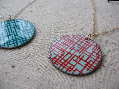 Silkscreened Enamel Jewelry