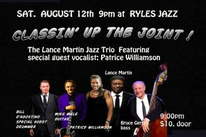 The Lance Martin Jazz Trio with special Guest Patrice Williamson