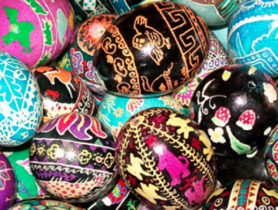 Ukrainian-style Egg Decorating
