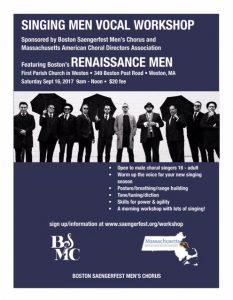 Vocal Workshop with Boston's Renaissance Men