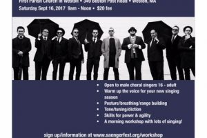Vocal Workshop with Boston's Renaissance Men